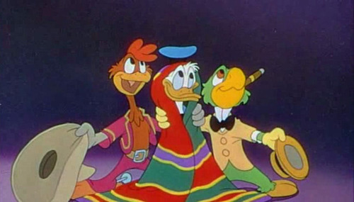 How many songs are sung in The Three Caballeros?