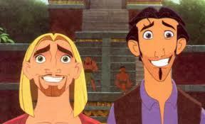 in the road to el dorado tulio looks at miguel with serious eyes Miguel says: well don't blame me! Tulio says:???