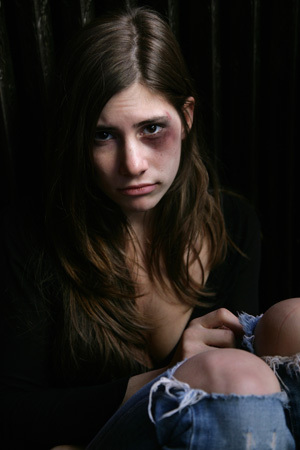 A majority of physical abuse to one's partner begins when?