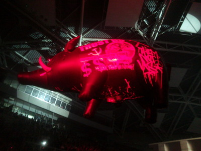 What album does originally the famous flying pig, often seen during Pink Floyd or Roger Waters' concerts, come from?