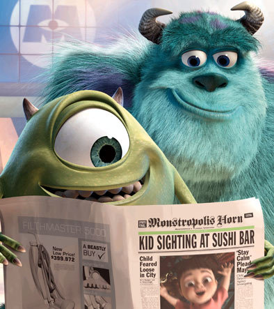 Sulley and Mike was thrown to the Himalayas