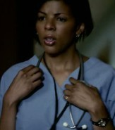2x2 Brave New World. What does Caroline compel the nurse to say as an excuse for her neck injury?