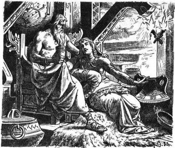 Who is Odin with here?