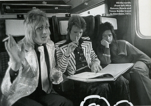 Which is the first song during which's recording Mick Ronson became involved?
