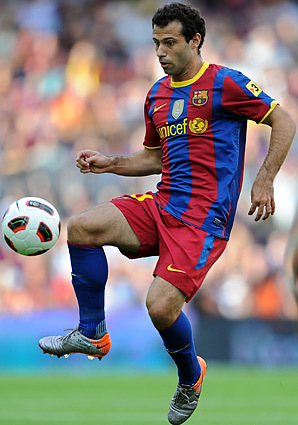 Where did Javier Mascherano play before he joined Barcelona?