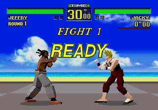 When was the arcade release of the first game in Virtua Fighter series?