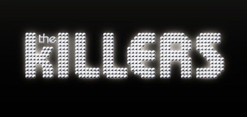 What font is used for the little 'the' in The Killers' logo?