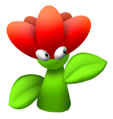 Mario Enemies - This florecsent flower will stop at nothing to burn Mario with its fire