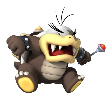 Mario Enemies - He  is the second youngest Koopaling and isn't as powerful as some of his older brothers