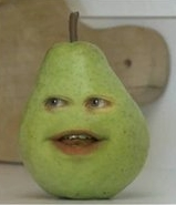 What does Pear not wanna give up in Back to the Fruiture?
