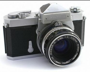 What was the first Nikon photo cameras name?
