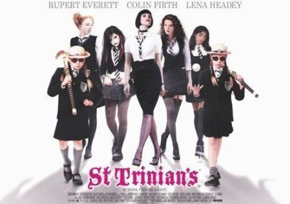 Allusions to what film with Colin Firth CANNOT be found in St.Trinian's (2007)?
