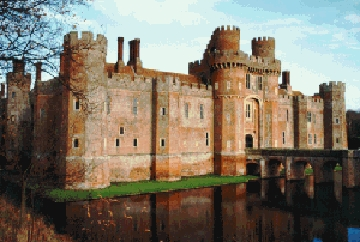 The painted world: The castle Nell drew is the Herstmonceux Castle in East Sussex, Russia.