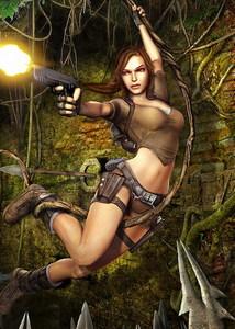 In which game did Lara wear a brown shirt?