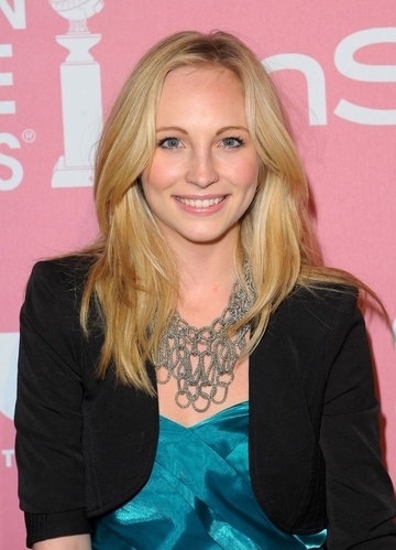 Which event is Candice at in this photo?