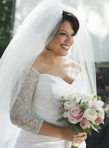 What does Callie repeat when she's walking down the aisle? 7x20 White Wedding