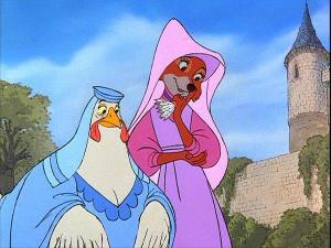 What were Marian and Lady Cluck doing when Skippy shot his arrow into the castillo garden?