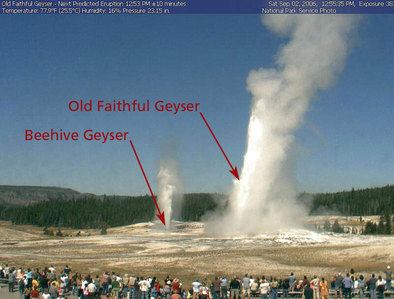 national park: what is the place is old faithful geyer ?