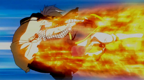 what does Natsu used to defeat Eligor's Storm Mail?
