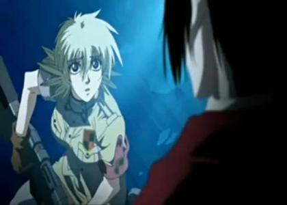 In the OVA when Seras exlpained why she didn't drink blood how did Alucard call her?
