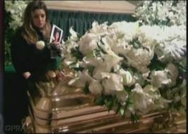 what did she said at MJ's funeral?