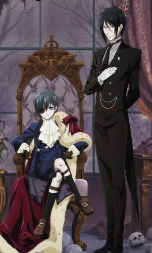 In the first chapter of The Black Butler Manga, who came to the Phantomhive mansion?