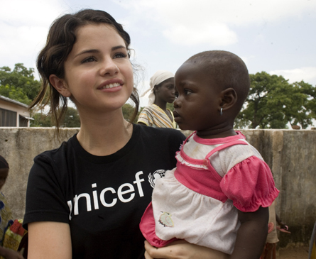 what age does selena gomez became the youngest ambassador of the UNICEF