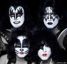 What album did Kiss first appear without makeup on?