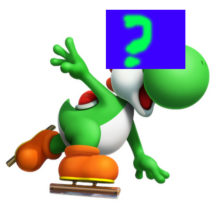 What is the color of Yoshi's eyes instead