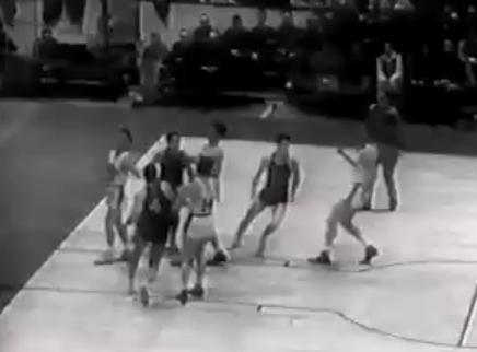 Which team hosted the first NBA game back in 1946?