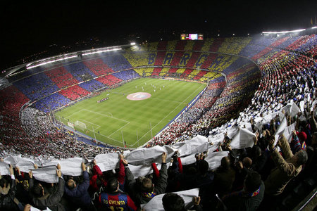 TRUE or FALSE: The Camp Nou is the largest stadium in Europe?