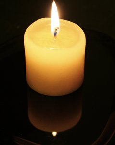 My candle is _______ scented.