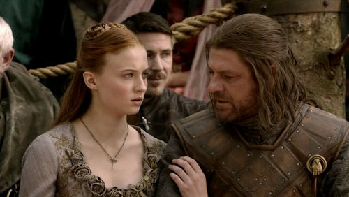 Who gave Sansa a rose while the tournament?