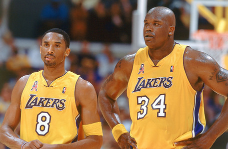 Who finished 3rd in scoring for the Lakers behind Shaquille O'Neal and Kobe Bryant in the 2001 - 2002 season?