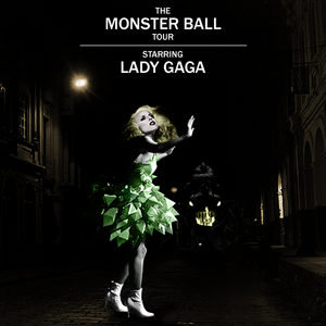 How many shows did Lady GaGa perform at '' The Monster Ball Tour '' in total?
