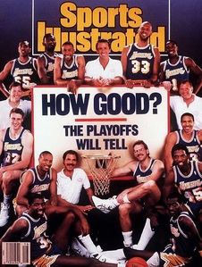 In what year did the Lakers play the most playoff games?