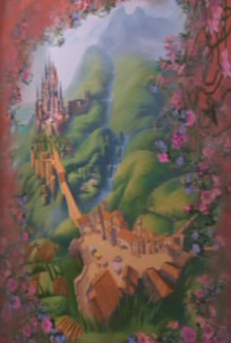 What was the third that Rapunnzel paint and what was the last thing that appeared in her painting ?