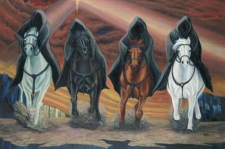 The Four Horsemen of the Apocalyse. What color is War´s horse?