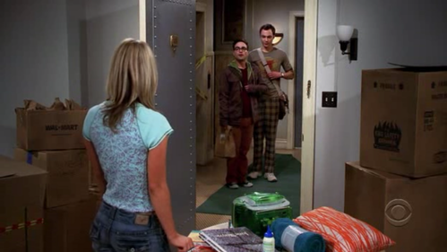 What song was played when Sheldon and Leonard first saw Penny?