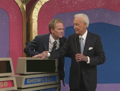 Right before The Price Is Right ends, in 'Showdown' Barney's final score shows up; what is it?