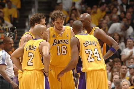 Who led the Lakers in field goal percentage during the 2009 - 2010 season?