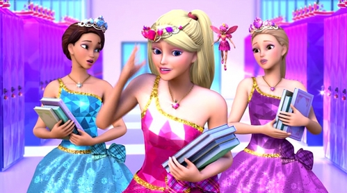 T / F: Barbie Princess Charm School is based on a real fairytale