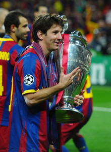 How many goals did Lionel Messi score in the 2010/11 Champions League season?