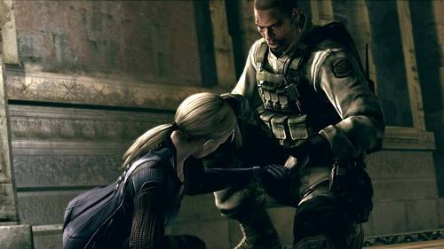 In Resident Evil 5 Desperate Escape, what's the name of the pilot and Josh's friend who died?