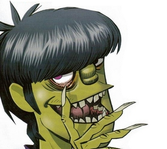 Why is Murdoc's skin sometimes green and sometimes white?