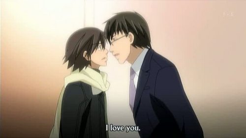 Junjou Romantica manga&anime : They've slept together...