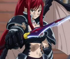 When does Erza first use her Black Wing Armour?