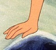 Whose hand is it?