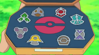 "Jun says: ""Althought,I didn't win the Sinnoh Leage,you all know I had won my 8 badges way before Ash did,right! But,wdo you know whish badges are they?"""