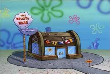 on episode 1,how did spongebob get is job at the krustty krab?